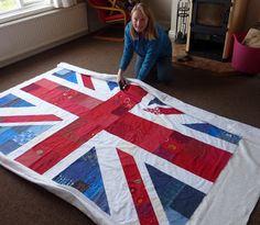V & M: Union Jack Bed Quilt