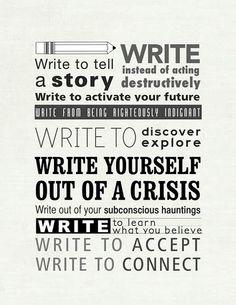 Write because...