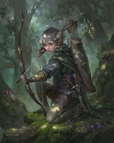 f Wood Elf Ranger Med Armor Longbow deciduous forest hills ArtStation - Harvest, Livia Prima High Fantasy, Fantasy Rpg, Medieval Fantasy, Fantasy Artwork, Fantasy Women, Dungeons And Dragons Characters, Dnd Characters, Fantasy Characters, Fantasy Character Design