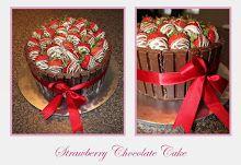 Strawberry Chocolate Cake Chocolate Strawberry Cake, Chocolate Strawberries, Chocolate Cake, Birthday Cake, Cakes, Drink, Desserts, Recipes, Ideas