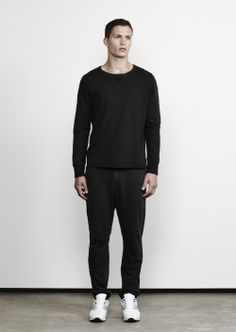 Jac+ Jack Winter 2014 / L30 Bright Crew in Black + Holt Pant in Black