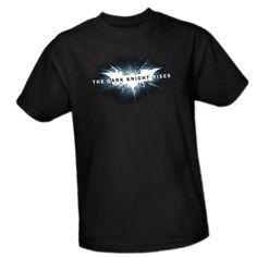 Cracked Bat Logo -- The Dark Knight Rises Adulto Camiseta, S #camiseta #realidadaumentada #ideas #regalo
