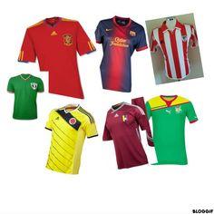 Apprendre les couleurs avec les maillots de foot http://espagnol.hispania.over-blog.com/article-las-camisetas-de-futbol-122992848.html