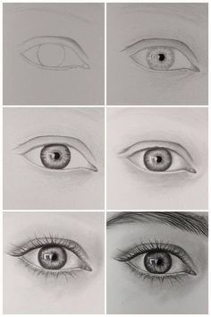 how to draw realistic eye step by step.:separator:how to draw realistic eye step by step. Pencil Art Drawings, Kawaii Drawings, Art Drawings Sketches, Eye Drawings, Drawing Faces, Eye Pencil Drawing, Drawing Eyebrows, Horse Drawings, Eye Drawing Tutorials