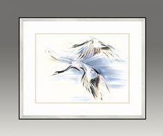Cranes. Water Series