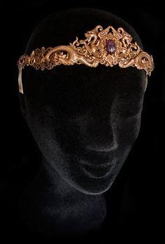 Efficient Gothic Circlet Renaissance Medieval Victorian Art Deco Art Nouveau Tudor Tiara Jewelry & Watches