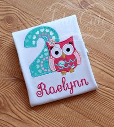 Girls Owl Birthday Shirt owl birthday by TutuCutebyKristina