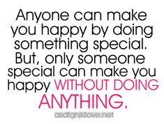 This is so true! No matter how many surprises someone gives you, if they don't make you happy in everyday life, it's not enough!