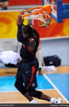Dwyane Wade, Olimpiadas 2008, día 18.  Baloncesto España-Estados Unidos (107-118)