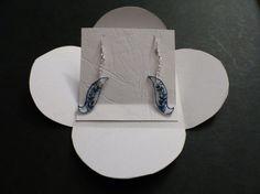 boucles d'oreilles fleurs  grimpantes plastique dingue et perles