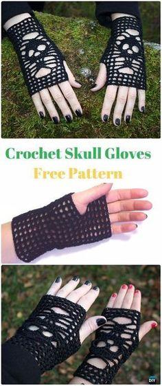 Crochet Skull Gloves Free Pattern - Crochet Skull Ideas Free Patterns