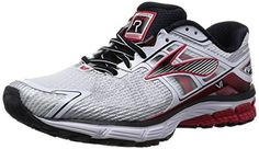 Brooks Mens Ravenna 6 WhiteHigh Risk RedBlack Sneaker 12 EE  Wide *** Want additional info? Click on the image.(This is an Amazon affiliate link and I receive a commission for the sales)