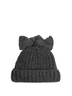 Bow-embellished beanie hat | Federica Moretti | MATCHESFASHION.COM UK