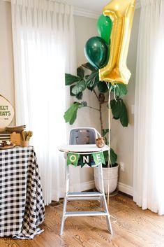 A Camp Themed Birthday Party - Project Nursery Boys First Birthday Party Ideas, Jungle Theme Birthday, 1st Birthday Pictures, 1st Birthday Themes, Wild One Birthday Party, Baby Boy Birthday, Boy Birthday Parties, First Birthday Camping Theme, Safari Theme