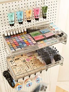 for the pegboard - awesome for the chalk and stamps!