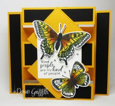 Kinds Of People, My People, Dawns Stamping Thoughts, Fun Fold Cards, Folded Cards, Stamping Up Cards, Christmas Mood, Butterfly Cards, Card Tutorials