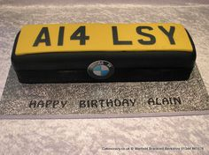 Number Plate Cake. Vehicle number plate cake