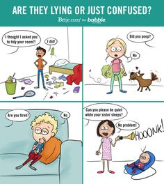 Are They Lying or Just Confused? (Parenting Comic by Betje.com for Babble)