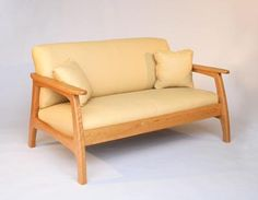 Linnaea Collection Sofas and Chairs - Hardwood Artisans Ikea Furniture, Woodworking Furniture, Living Furniture, Furniture Ideas, Wood Sofa Table, Sofa Chair, Couch, Wooden Sofa Set Designs, Greenhouse Fabrics