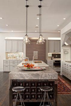Hinsdale Greek Revival transitional-kitchen