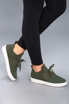 fbd92c242cc3 Steve Madden Lancer Olive Sneakers Women s Sneakers