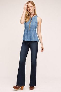 AG Angel Mid-Rise Bootcut Jeans #anthropologie