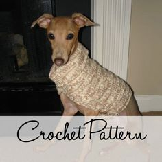 PDF Crochet Pattern for A Small Breed Dog Vest. $5.00, via Etsy.