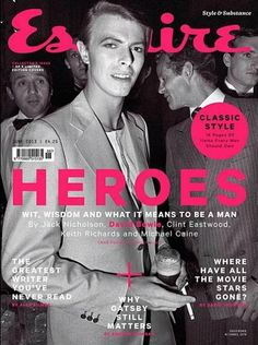 Esquire (UK) Great series of 'hero' covers! The covers include shots of Jack Nicholson, David Bowie, Clint Eastwood, Keith Richards and Michael Caine. David Bowie Covers, Esquire Uk, Uk Magazines, The Thin White Duke, Major Tom, Cinema, Jack Nicholson, Keith Richards, Clint Eastwood