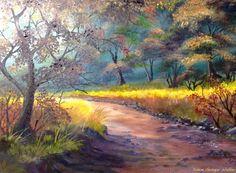 Autumn Sun  40x28 cm oil on canvas,  https://www.facebook.com/dizzywalkerart