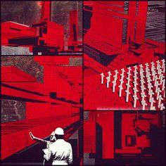 #marchphotoaday #red #design #graphic #dystopia #scifi #art #vigilism #architecture