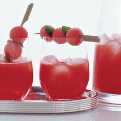 A riff on classic Spanish sangria, a traditional punch composed of wine, fruit and brandy, this recipe is made with juicy watermelon instead of apples and oranges.