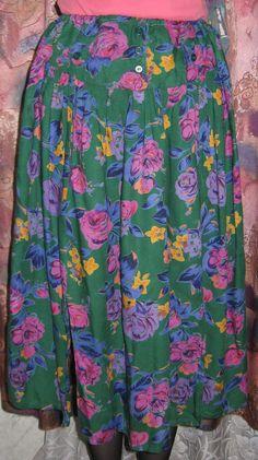 Винтажная женская юбка с карманами. от VIRTTARHAR на Etsy