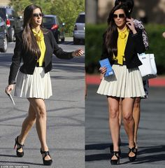 Kim Kardashian put on her Sunday best as she attended an Easter church ... Love the outfit. Especially the shoes!!!