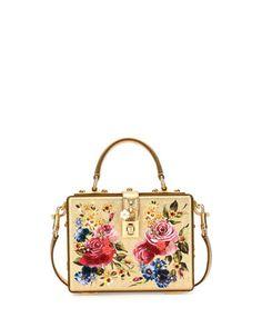 Dolce+Box+Medium+Mirror+Crystal+Shoulder+Bag,+Gold+by+Dolce+&+Gabbana+at+Bergdorf+Goodman.