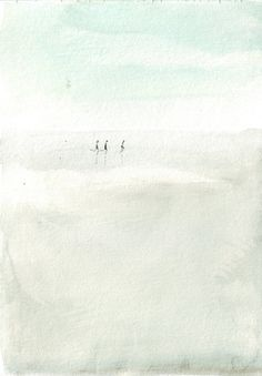 Original watercolor painting beach art running kids by HelgaMcL http://etsy.me/VW3Xmj $20.00