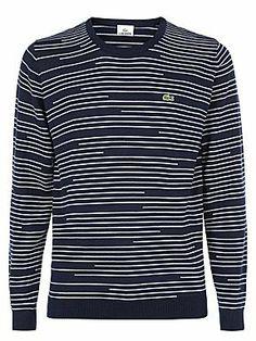 LACOSTE Round Neck Sweater In Merino Wool