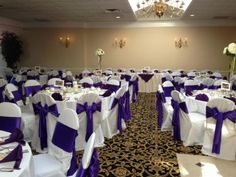 Purple and White Wedding Table Ideas from Gazebo Banquet Center - Event And Wedding venues