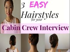 Easy Hairstyles for your Cabin Crew Interview - YouTube