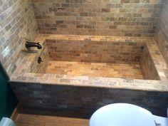 Make Your Own Bathtub Build Your Own Tile Bathtub Roman Style Tub Custom And Shower Combo Tiny House Design Ideas Bathtub Installation Instructions Concrete Bathtub, Diy Bathtub, Bathtub Tile, Bathtub Ideas, Tiny House Bathtub, Bathroom Ideas, Sunken Bathtub, Diy Concrete, Jacuzzi