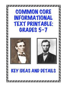 Students read an engaging two-page informational text on Abraham Lincoln and his decision to grow a beard before the 1860 Presidential election. The text contains 500+ words and uses both primary and secondary sources. RI.5.1, RI.6.1, RI.7.3, RH.6-8.1 $