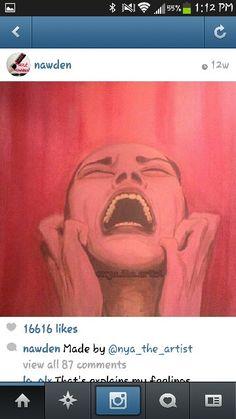 Scream the pain away Depressing, Scream, Dark, Artist, Inspiration, Biblical Inspiration, Artists, Inspirational, Inhalation