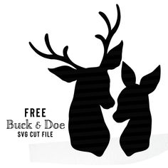 Free Buck and Doe SVG cut files for personal and commercial use! Silhouette Cameo 4, Hirsch Silhouette, Silhouette Cameo Freebies, Stag And Doe, Scan And Cut, Cricut Tutorials, Free Svg Cut Files, Cricut Creations, Cricut Vinyl