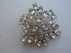 Art deco rhinestone brooch authentic vitnage brooch by 2007musarra, $89.99