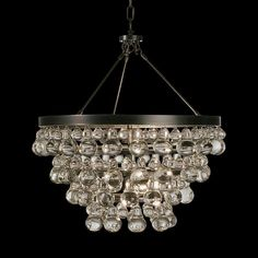 Robert Abbey Bling Collection Convertible Bronze Chandelier - #N3552 | Lamps Plus