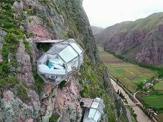 Honeymoon Destination: Hanging Hotel in Peru Watch here http://on.fb.me/1TJfpyO