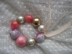 Pink Gold Big Balls Bracelet