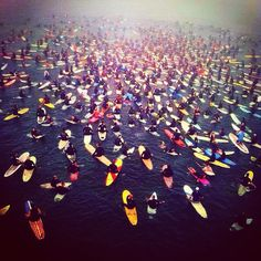 Pastor Chuck Smith paddle out service via instagram