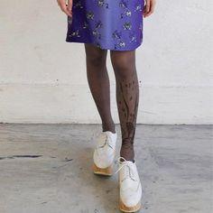 Checked Rabbit Grey Stockings @Noveltylane.com