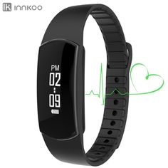 InnKoo H09 Waterproof Fitness Tracker Pedometer Watch Band with Dynamic Heart Rate Monitor Calories Counter Smart Sports Bracelet Wristband Activity and Sleep Monitor, Touch Screen Bluetooth Sync *** Startling review available here  : Fitness Technology