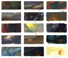Nathan Fowkes Art: Color Exploration While Listening to Music, 1998 Más Environment Concept Art, Environment Design, Traditional Paintings, Traditional Art, Nathan Fowkes, Bg Design, Composition, Color Script, Game Concept Art